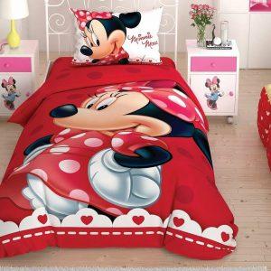 купить Детское постельное белье TAC Minnie Lovely Glitter Красный фото