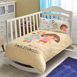 купить Детское постельное белье в кроватку TAC Dora Best Friends Baby Желтый фото