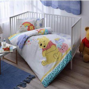 купить Детское постельное белье в кроватку TAC Winnie Hunny Baby Голубой фото