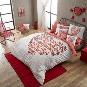 купить Постельное белье TAC Love Красный фото