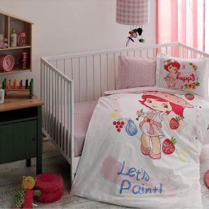 купить Детское постельное белье в кроватку TAC Strawberry Shortcake Paint Розовый фото