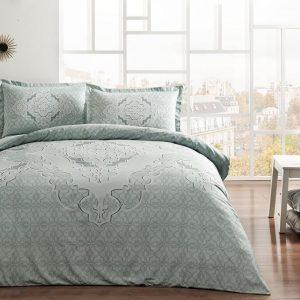 купить Постельное белье TAC Olivia Mint Серый Зеленый фото