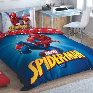 купить Детское постельное белье TAC Spiderman Time To Move Синий фото