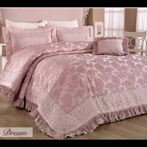 купить Покрывало Evelina с вышивкой 270x265 Dream Пудра
