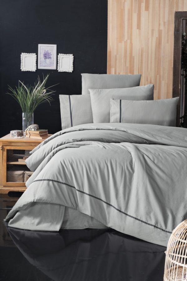 купить Постельное белье First Choice de luxe ranforce alisa grey Серый фото