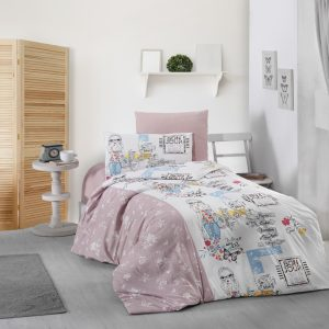 купить Постельное белье First Choice ранфорс belinda Розовый фото
