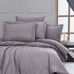 купить Постельное белье First Choice жаккард superior bamboo darcell lavender Серый фото