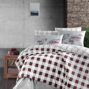 купить Постельное белье First Choice cатин de luxe edmon dark red Бордовый фото