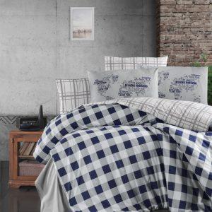 купить Постельное белье First Choice cатин de luxe edmon navy blue синий фото