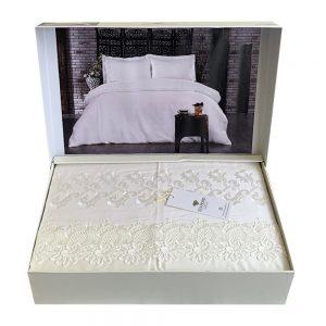купить Постельное белье DIAMOND EVELINE WHITE Кремовый фото