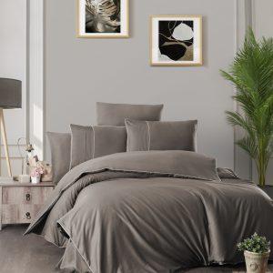 купить Постельное белье First Choice сатин де люкс fantasy brown Серый фото