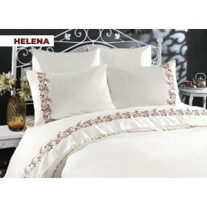 купить Постельное белье Arya Сатин с вышивкой Helena Кремовый фото