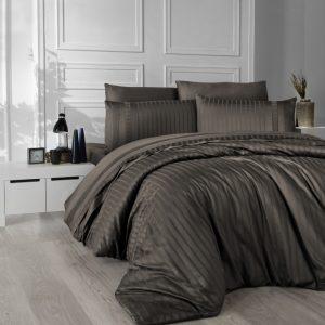 купить Постельное белье First Choice сатин де люкс new trend brown Серый фото