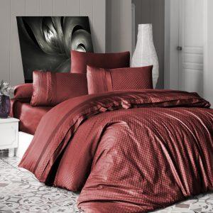 купить Постельное белье First Choice сатин де люкс square style cinnamon Красный фото