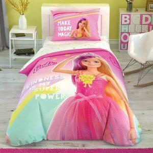 купить Детское светящееся постельное белье TAC Barbie Kindness Розовый фото