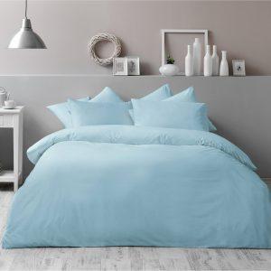 купить Постельное белье TAC Basic Turqoise Голубой фото
