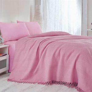 купить Покрывало-плед Checkers розовый