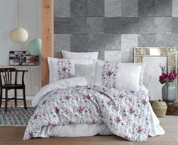 купить Постельное белье Hobby Home Poplin Cloudia Серый фото