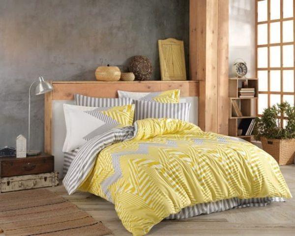 купить Постельное белье Hobby Home Poplin Daniela Желтый фото