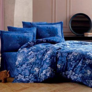 купить Постельное белье Hobby Home Exclusive Sateen ADELE blue Голубой фото