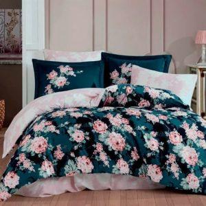 купить Постельное белье Hobby Home Exclusive Sateen ADRIANA pink Зеленый фото