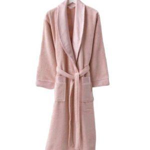 купить Женский махровый халат Zugo Home Long Twist Bayan розовый