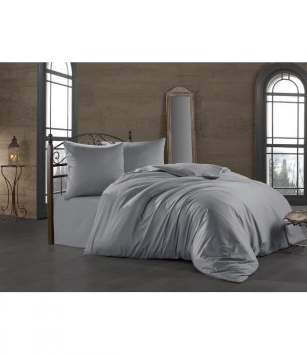 купить Постельное белье Zugo Home сатин Silver Серый фото