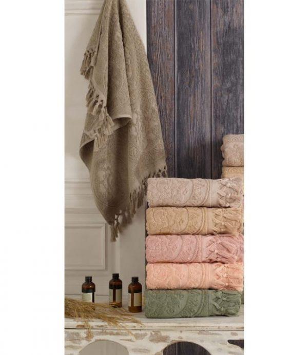 купить Набор махровых полотенец Sikel жаккард Hitit 6 шт