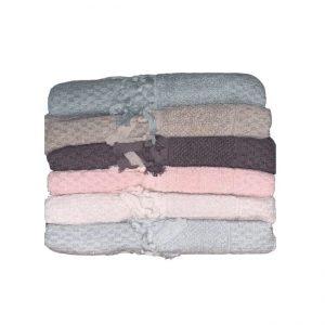 купить Набор махровых полотенец Sikel жаккард Bukle Mikanos 6 шт