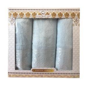 купить Набор махровых полотенец Gold Soft Life Hindistan blue