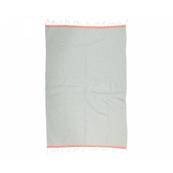 купить Пляжное полотенце Barine Pestemal Basak Light Grey-Orange