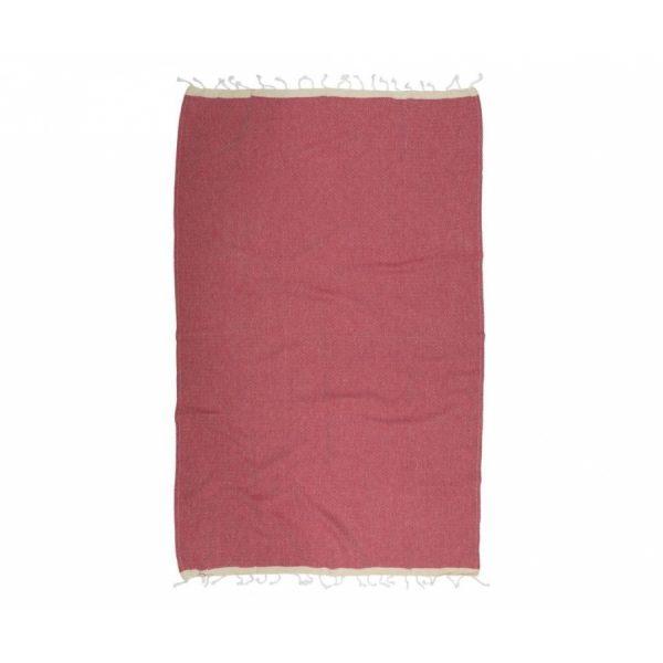 купить Пляжное полотенце Barine Pestemal Basak Marsala-Beige