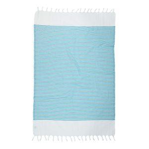купить Пляжное полотенце Barine Pestemal White Imbat Aqua Turkuaz