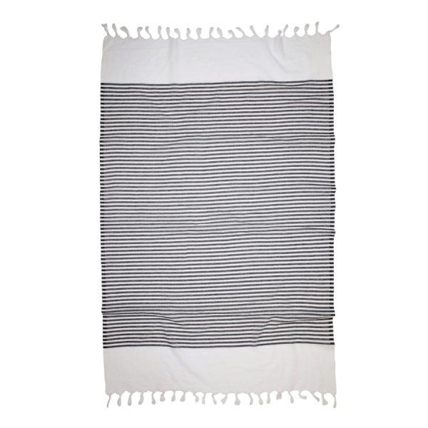 купить Пляжное полотенце Barine Pestemal White Imbat Black