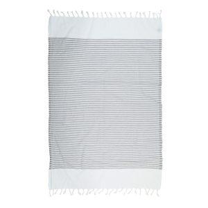 купить Пляжное полотенце Barine Pestemal White Imbat Grey