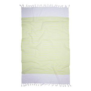 купить Пляжное полотенце Barine Pestemal White Imbat Lime