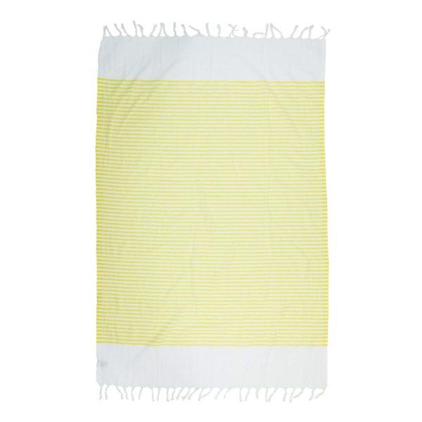 купить Пляжное полотенце Barine Pestemal White Imbat Yellow
