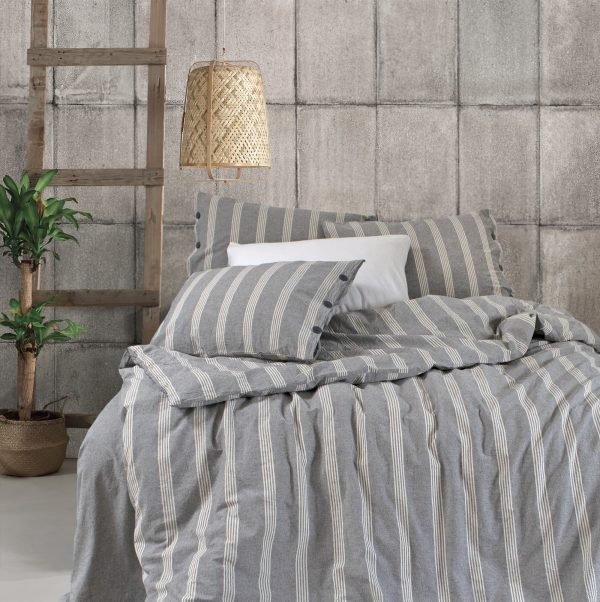 купить Постельное белье Barine Washed cotton Luke Bond antrasit Серый фото