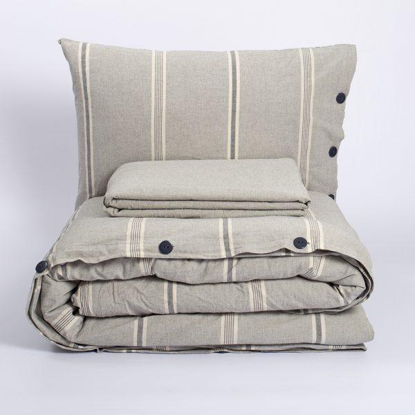 купить Постельное белье Barine Washed cotton Sense gri Серый фото