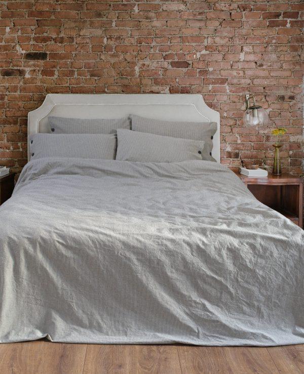 купить Постельное белье Barine Washed cotton Shint antrasit Серый фото