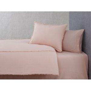 купить Постельное белье Buldans Burumcuk pudra king size Розовый фото