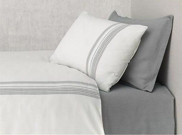 купить Постельное белье Buldans Elisa antrasite king size Серый фото