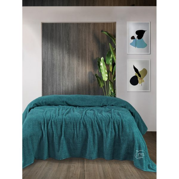 купить Простынь Iris Home махровая Harbor blue