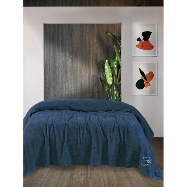 купить Простынь Iris Home махровая Mojalica blue