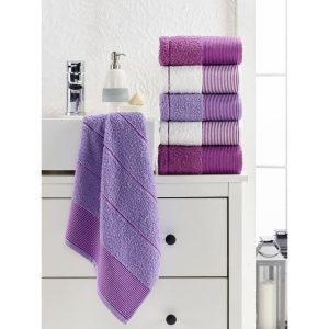 купить Набор полотенец Eponj Home-Vorteks 50x85 6шт fitilli lila