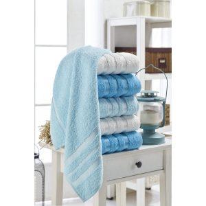 купить Набор полотенец Eponj Home-Vorteks 50x85 6шт flos turkuaz