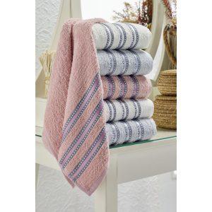 купить Набор полотенец Eponj Home-Vorteks 50x85 6шт makara gri