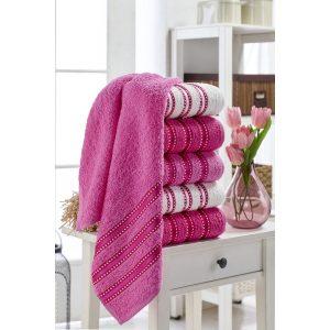 купить Набор полотенец Eponj Home-Vorteks 50x85 6шт makara pembe