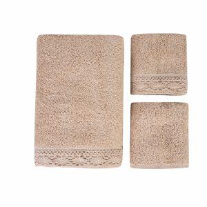 купить Набор полотенец Karaca Home-Lola bej 3шт