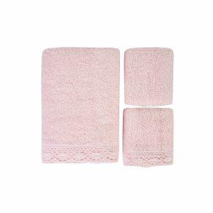 купить Набор полотенец Karaca Home-Lola pudra 3шт